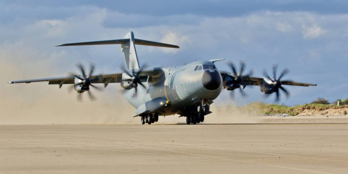 El gigante de los vuelos militares pasó por Colombia