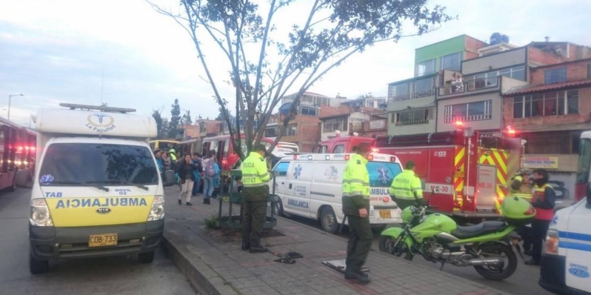 Choque entre dos buses de TM en la AV. Caracas deja 20 heridos
