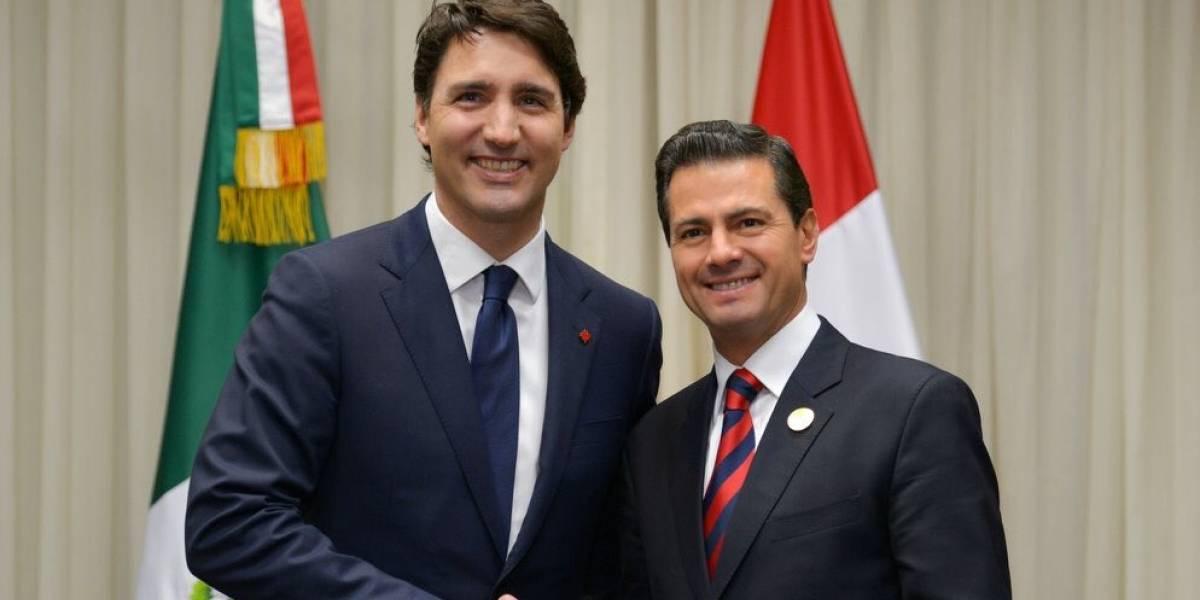 Peña Nieto se reúne con Trudeau para dialogar sobre negociaciones del TLCAN