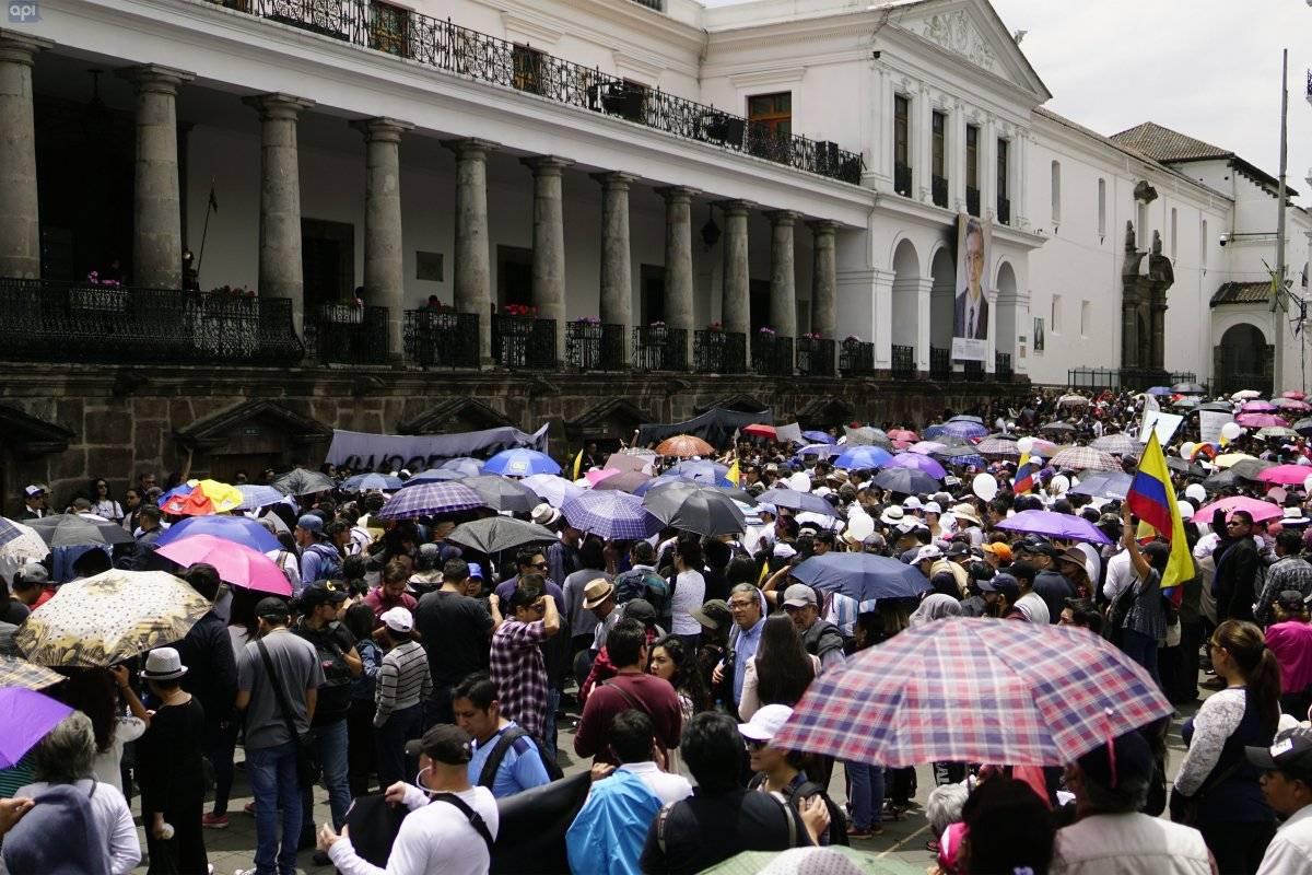 Concentración frente al Palacio de Gobierno para exigir respuestas METRO