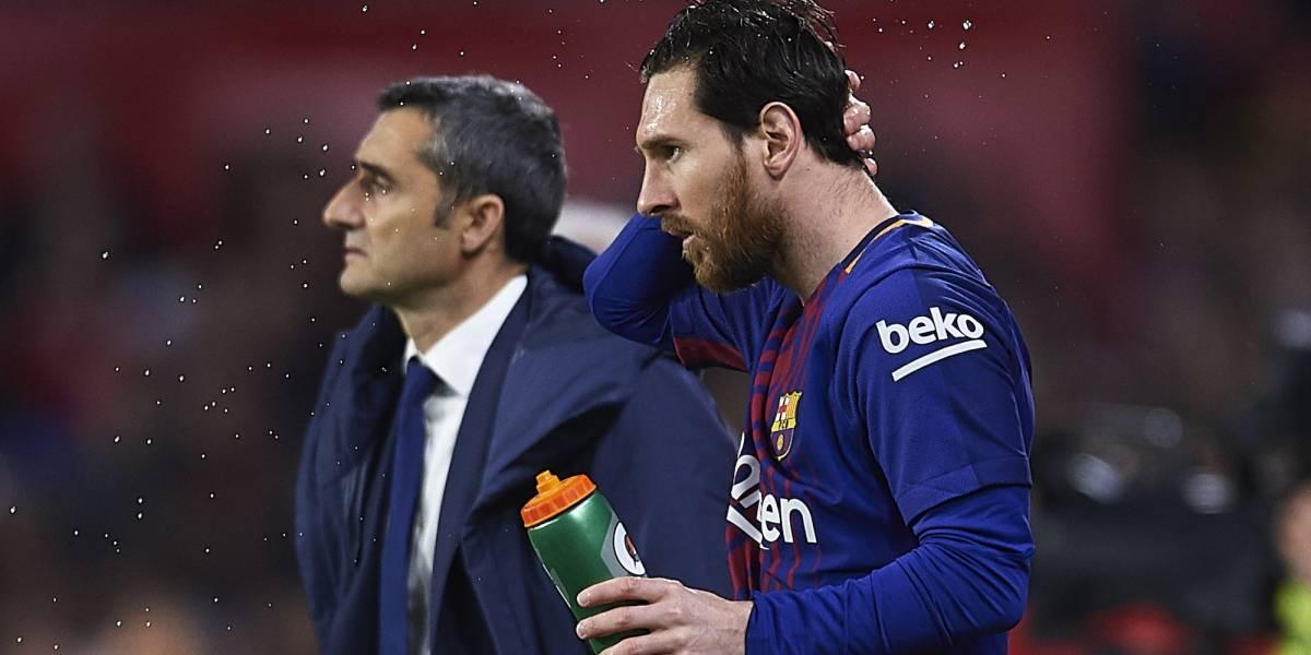 VIDEO: Reportan enfrentamiento en el vestidor entre Messi y Valverde