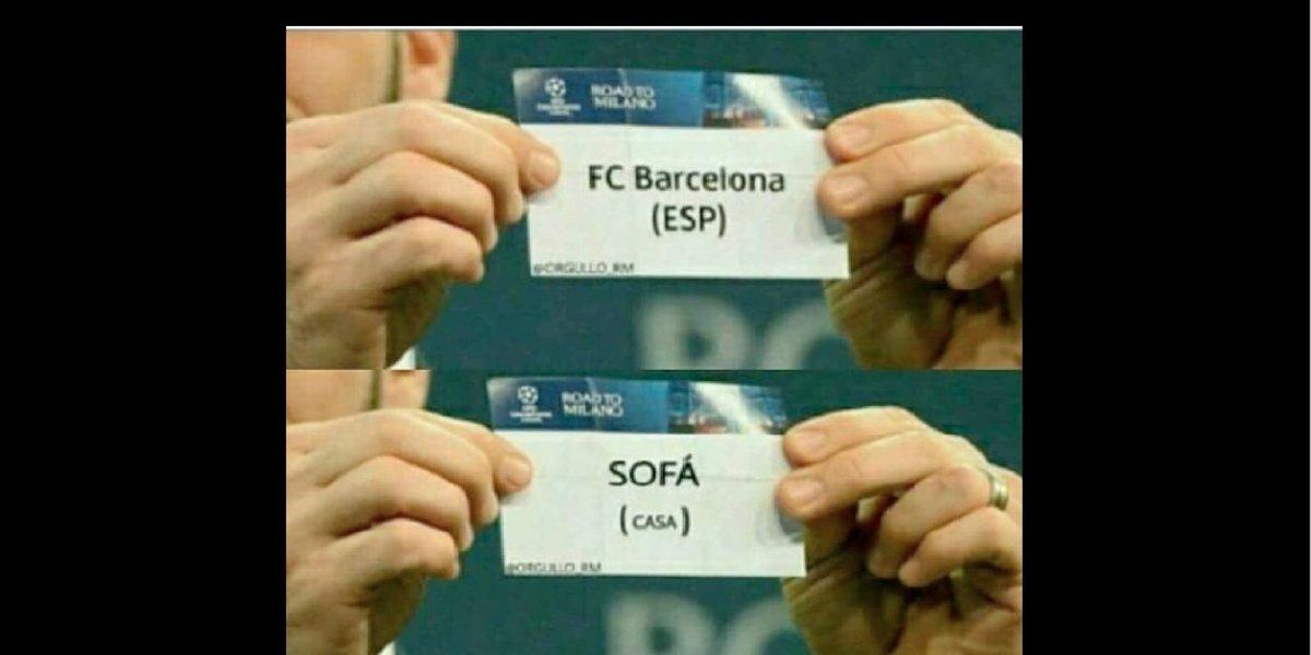 Memes tras el sorteo de la Champions, destrozan al Barcelona