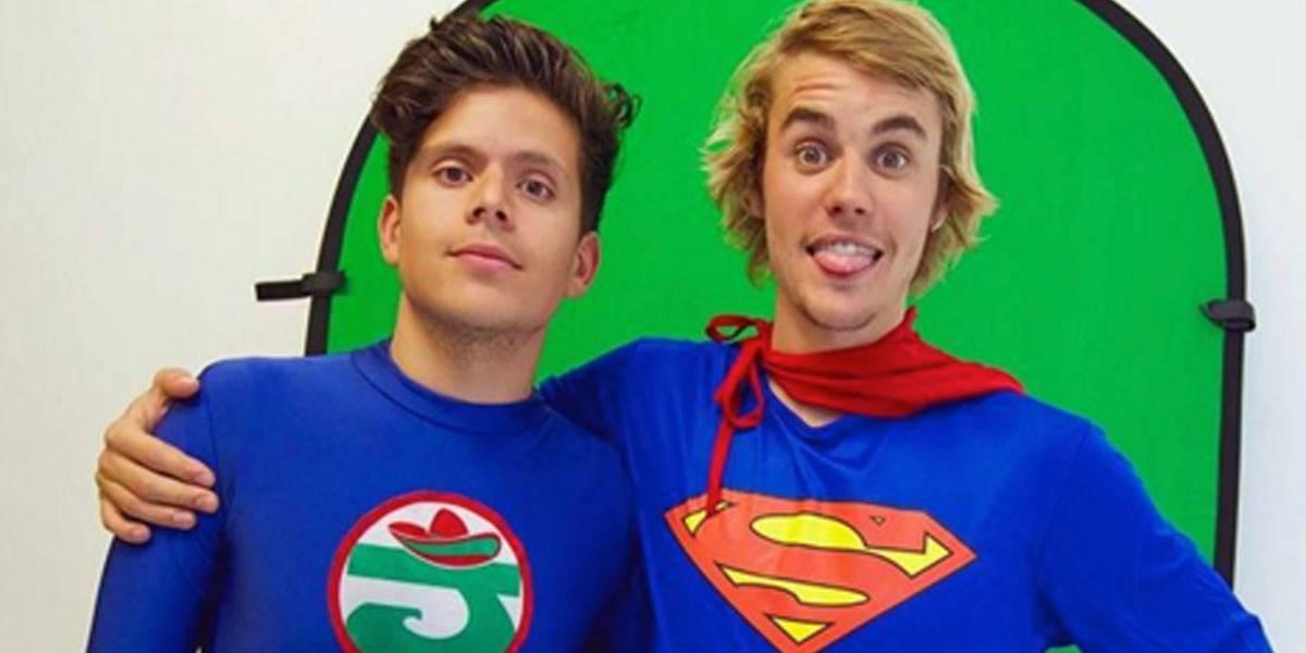 Justin Bieber espanta fama de chato com papel gente boa em esquete do humorista Rudy Mancuso