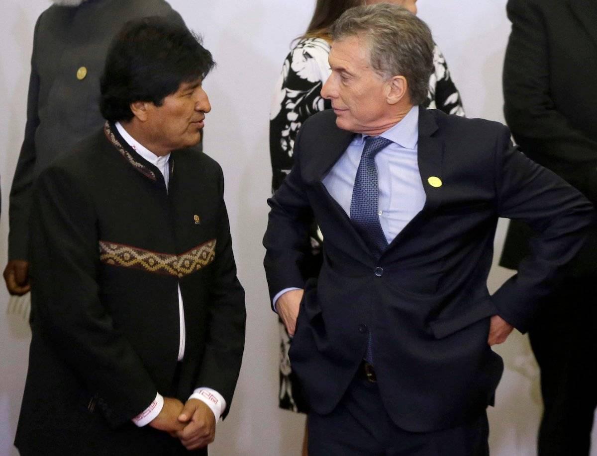 Evo Morales dialoga con Mauricio Macri Foto: AP