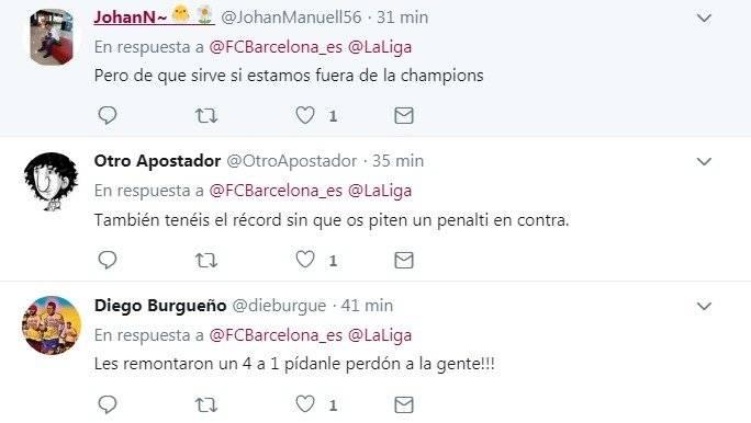Comentarios de aficionados del Barcelona