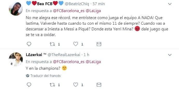 Comentarios de aficionados de Barcelona