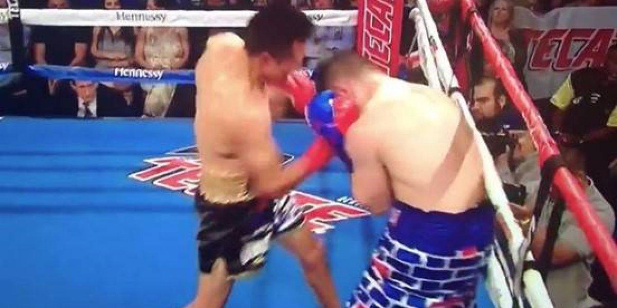 VIDEO. Boxeador de EE. UU. se burla de México con su pantaloneta y recibe paliza