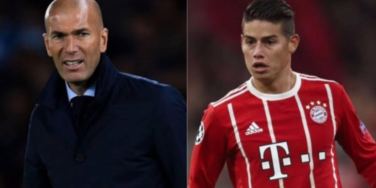 Video: Las palabras de Zinedine Zidane sobre James Rodríguez antes de la semifinal