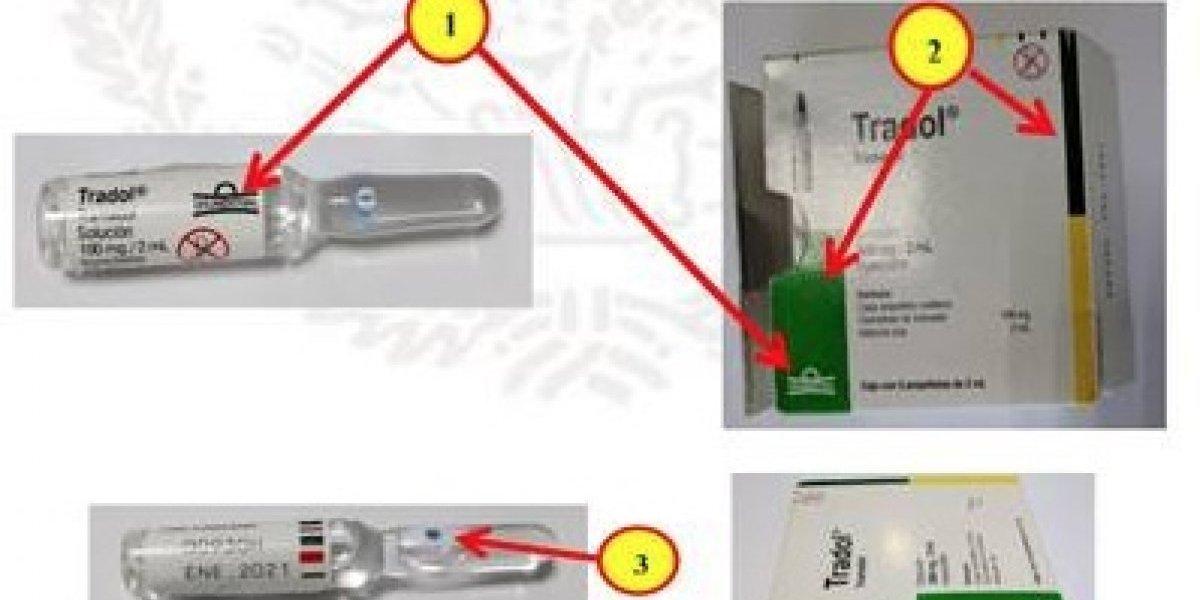 Cofepris alerta sobre falsificación del fármaco Tradol