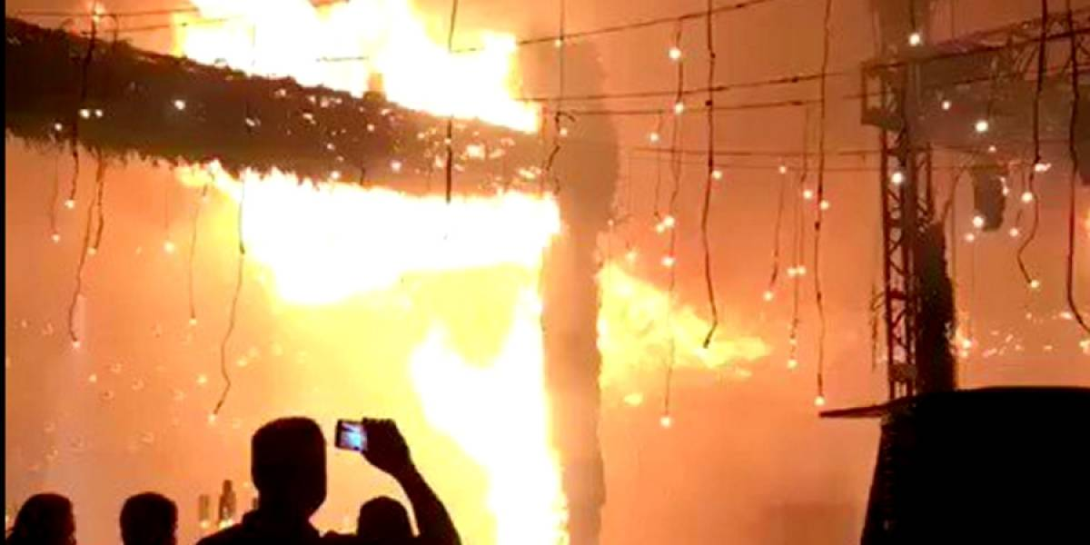 (VIDEO) Un fuego termina con una boda en Jalisco