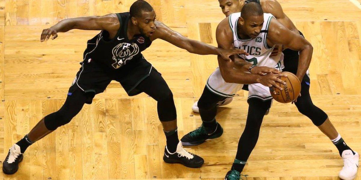 Celtics resiste embate de Bucks para llevarse el primero de la serie