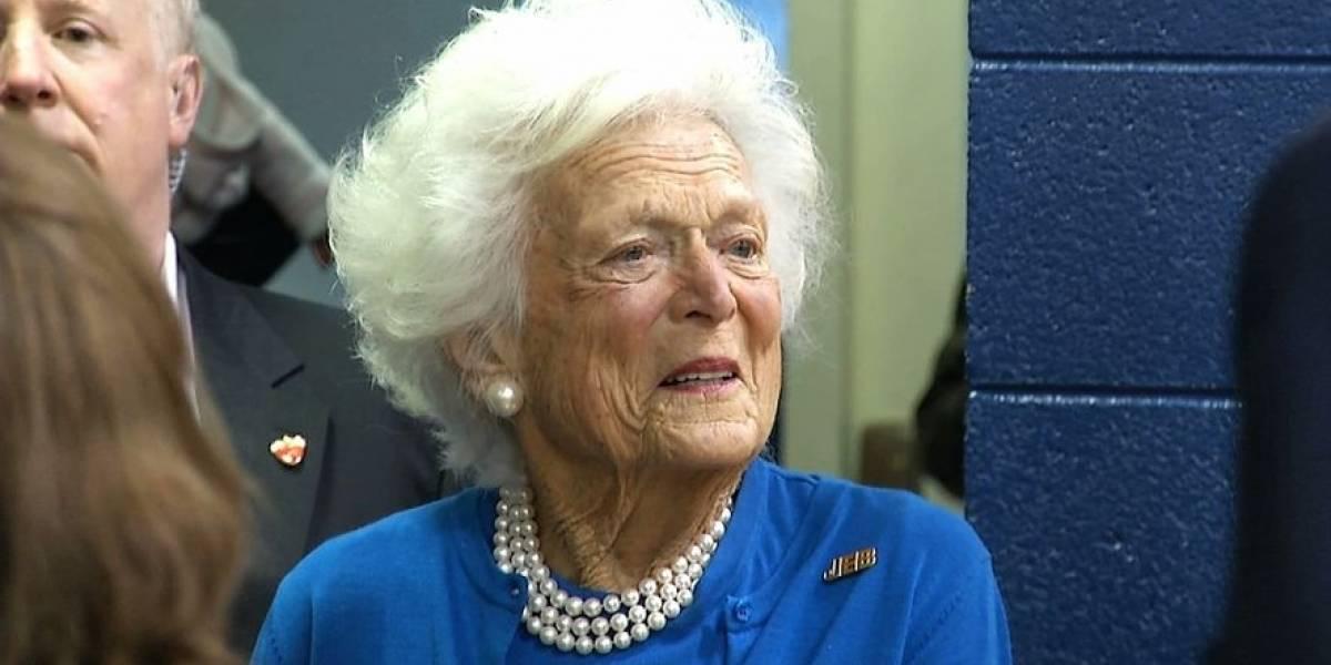 Barbara Bush no buscará más atención médica para prolongar su vida