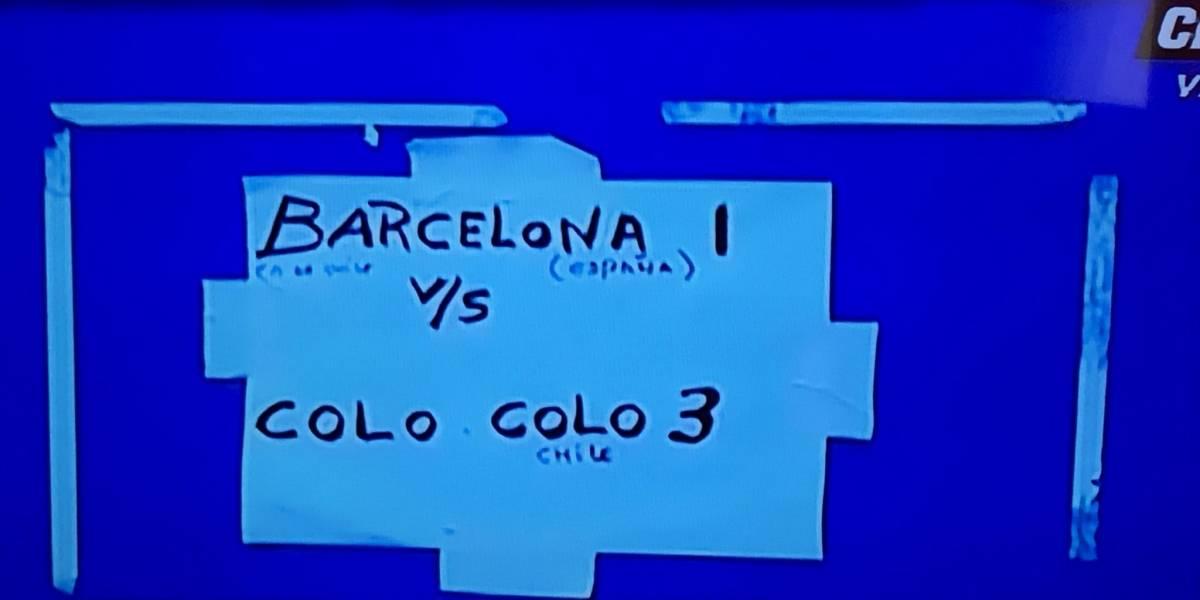 """""""Barcelona 1 vs Colo Colo 3"""": el provocador cartel del camarín del Cacique tras ganar el Superclásico"""