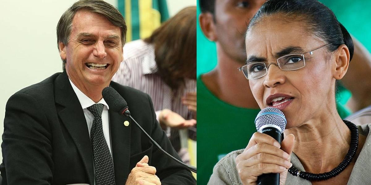 Com Lula fora, Bolsonaro e Marina estão empatados tecnicamente