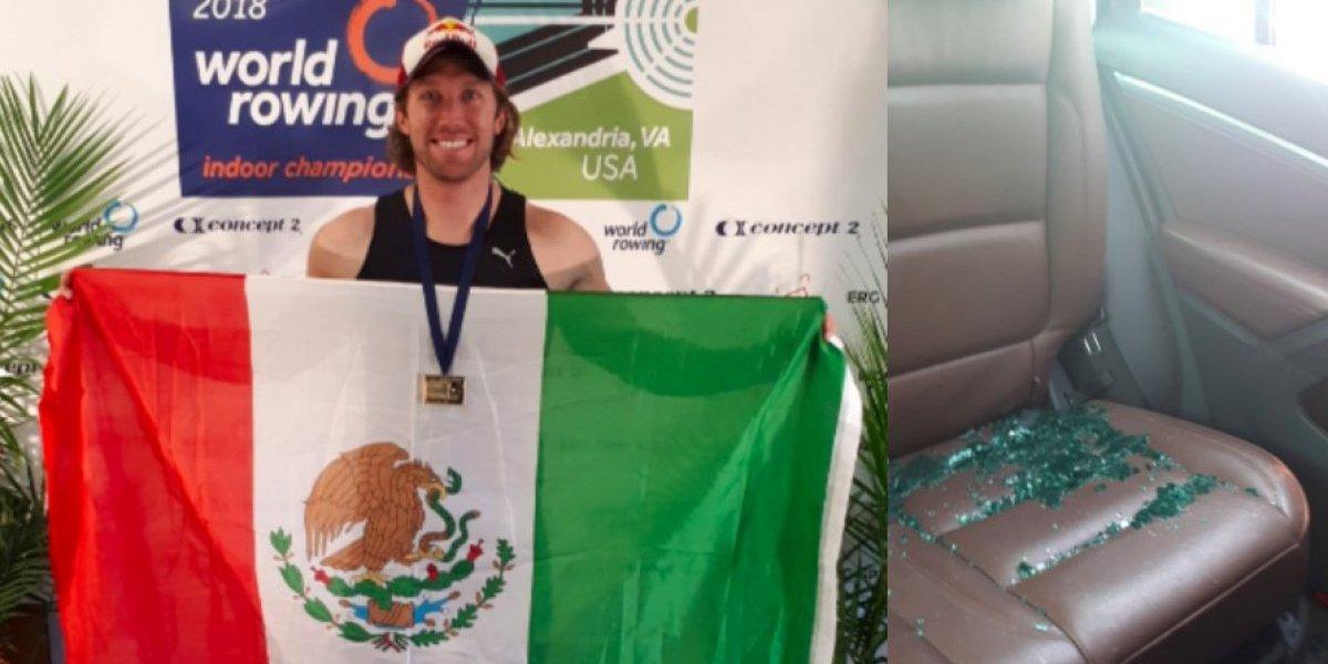 Atleta mexicano exhibe robo que sufrió en Puebla