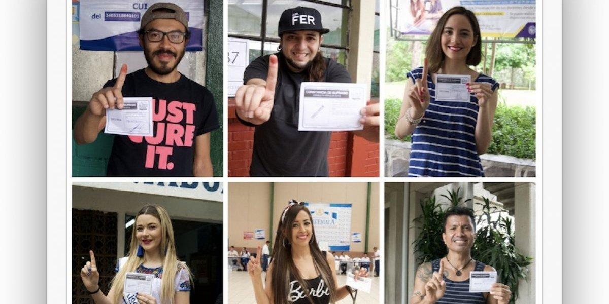 Artistas guatemaltecos ejercieron su derecho al voto