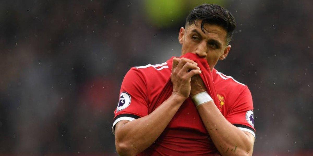 Alexis Sánchez se lesiona y no es considerado en Manchester United ante Brighton
