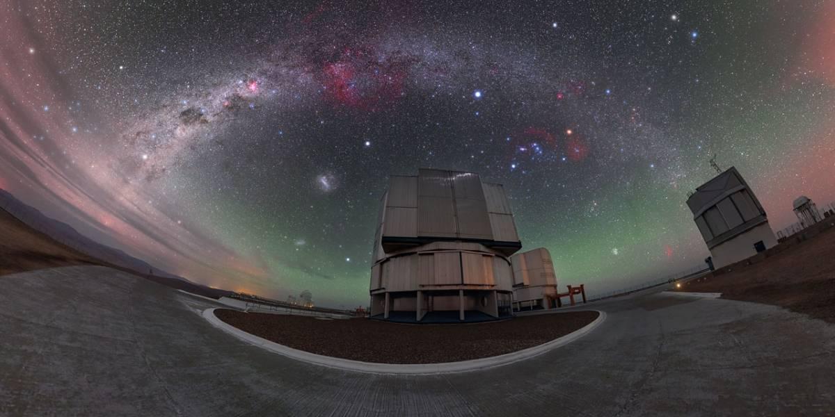 Arco-íris estelar é registrado no Chile