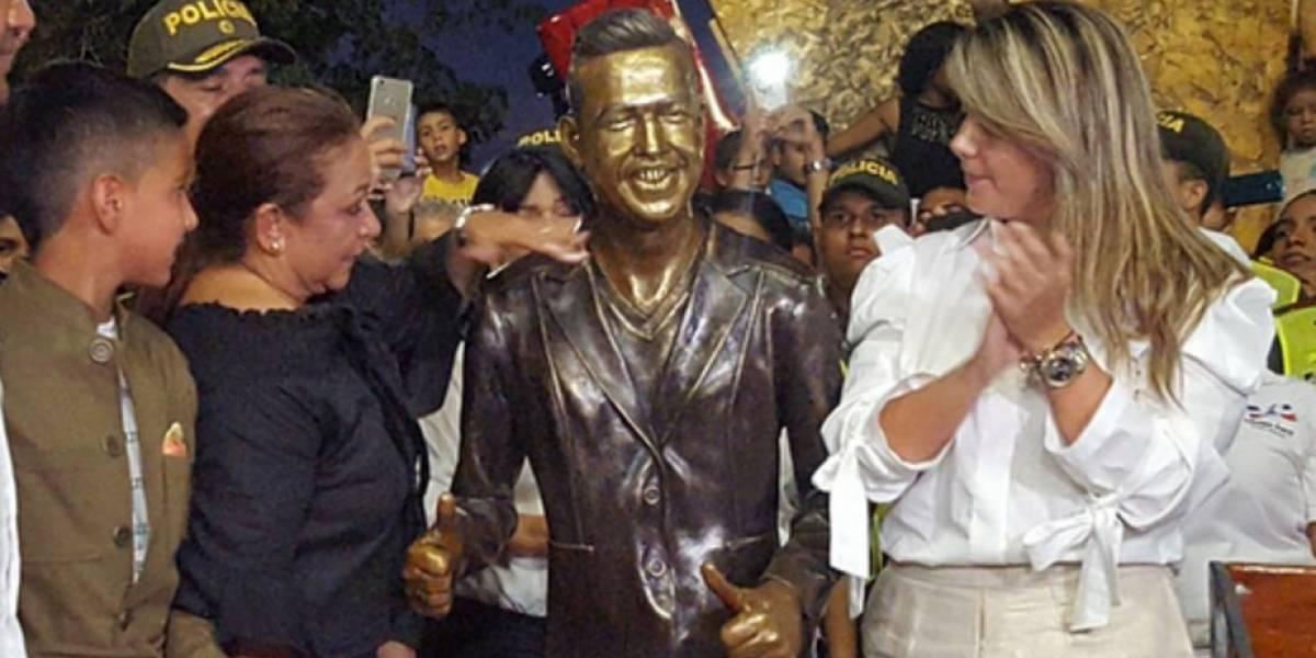 ¡¿Cuánto?¡ Esto fue lo que costó la estatua de Martín Elías, que ya se encuentra en Valledupar
