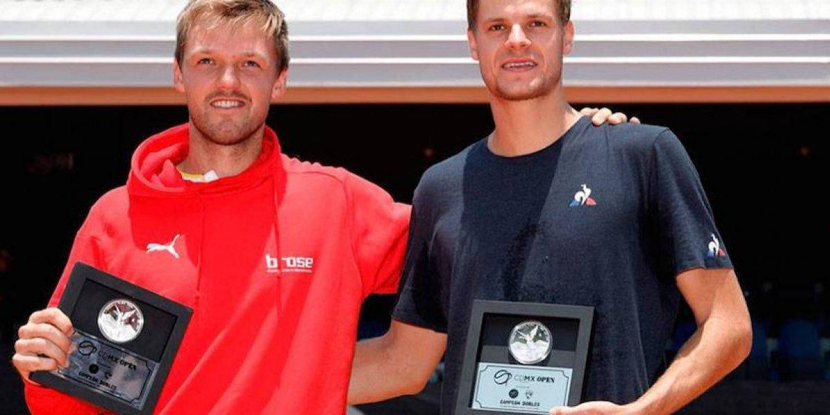 Alemanes Hanfmann y Krawietz, campeones en dobles del CDMX Open