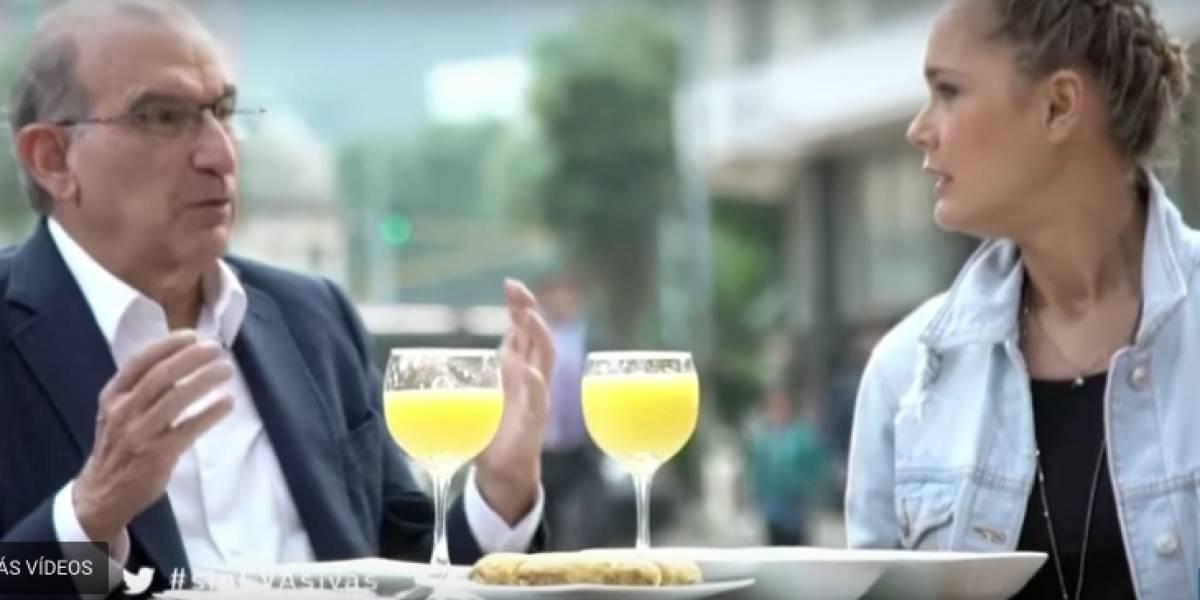 El piropo de Humberto De la Calle a Eva Rey y por el cual se terminó arrepintiendo