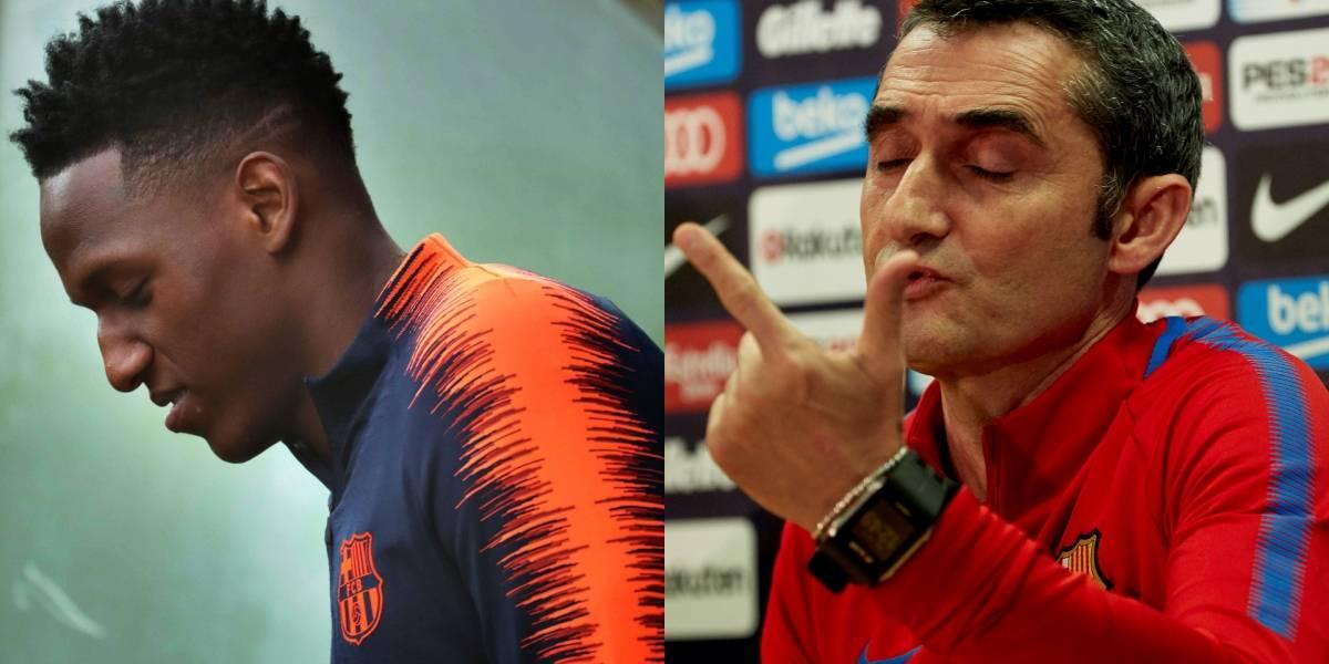 Ernesto Valverde habló del presente de Yerry Mina en Barcelona