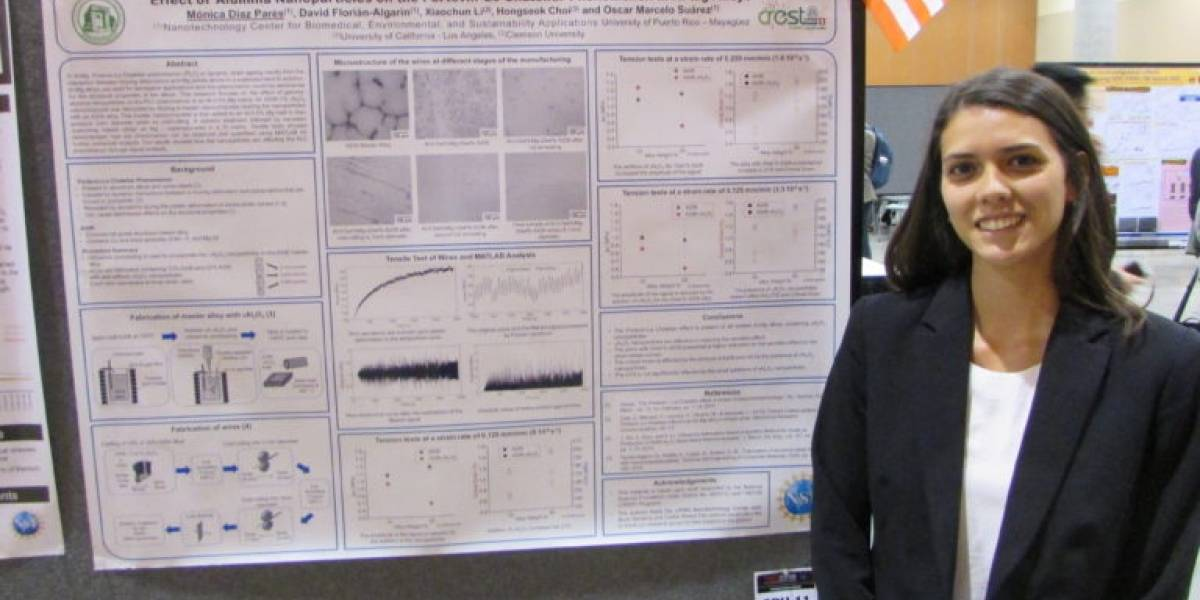 Estudiante del RUM logra primer lugar en competencia en Arizona con investigación sobre nanopartículas