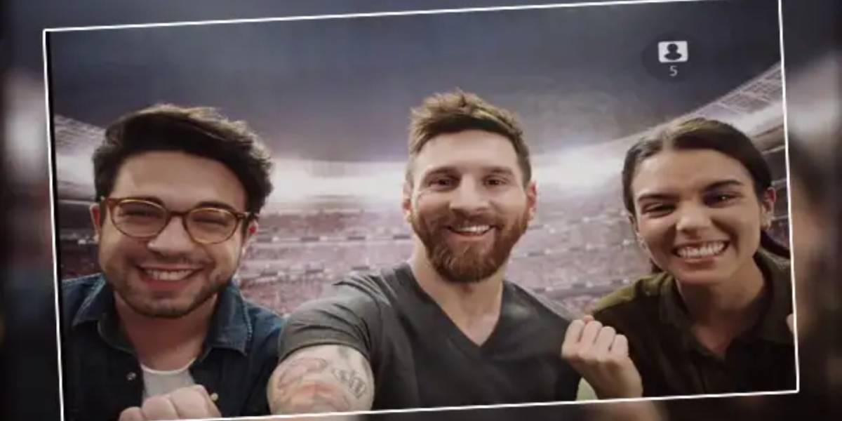 Aplicación para teléfonos móviles permite tomarte una selfie con Messi