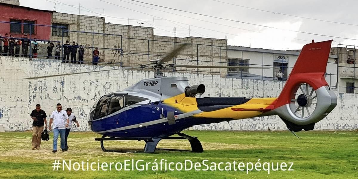 Ministro de Ambiente viajó en helicóptero para votar