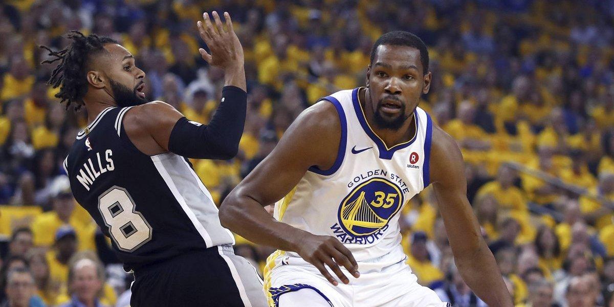 NBA: Durant guía la emotiva remontada de Golden State Warriors ante San Antonio Spurs
