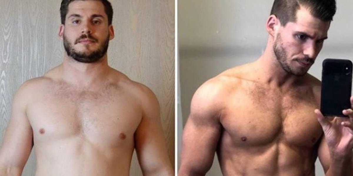 Youtuber mostra incrível transformação de apenas três meses