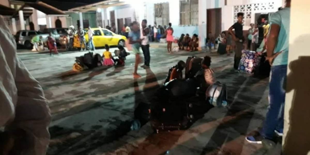 Se reporta llegada de desplazados desde Mataje hacia San Lorenzo
