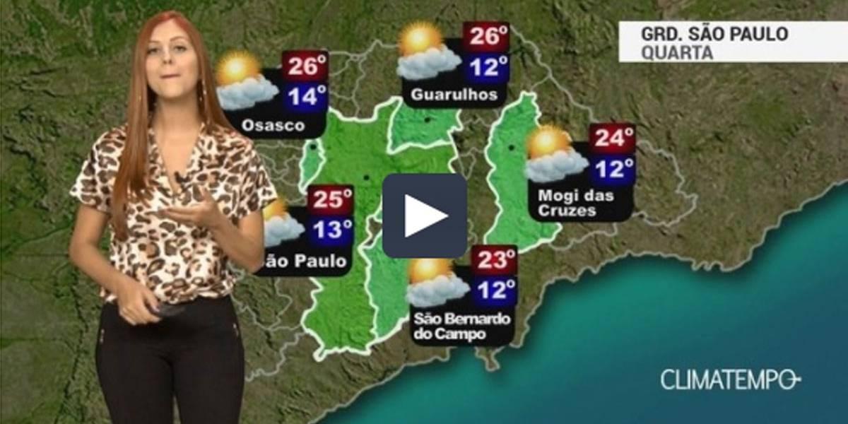 Veja previsão do tempo para a Grande São Paulo nesta quarta-feira