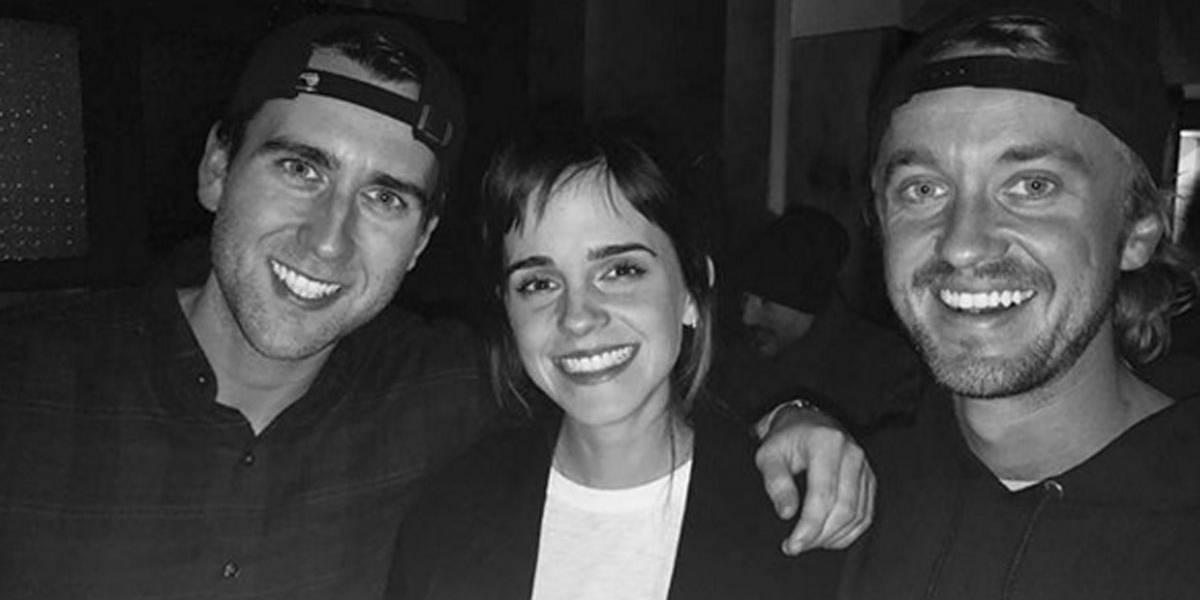 Emma Watson se reúne a parte de elenco de Harry Potter: 'colegas de Hogwarts'