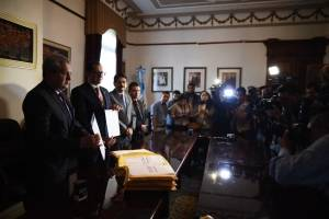 Entrega de lista de aspirantes a fiscal general