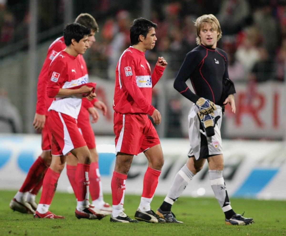 Pavel Pardo y Ricardo Osorio Stuttgart