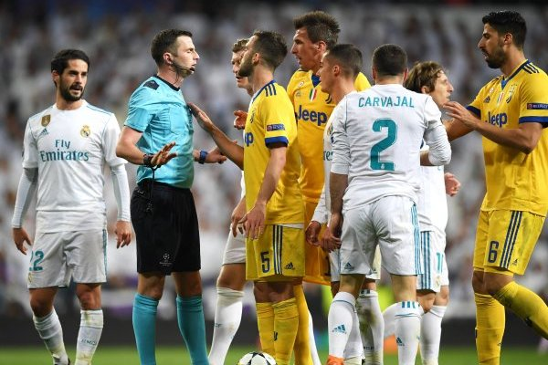 Árbitro del partido Real Madrid contra Juventus fue amenazado
