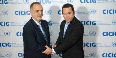 Iván Velásquez y Jimmy Morales