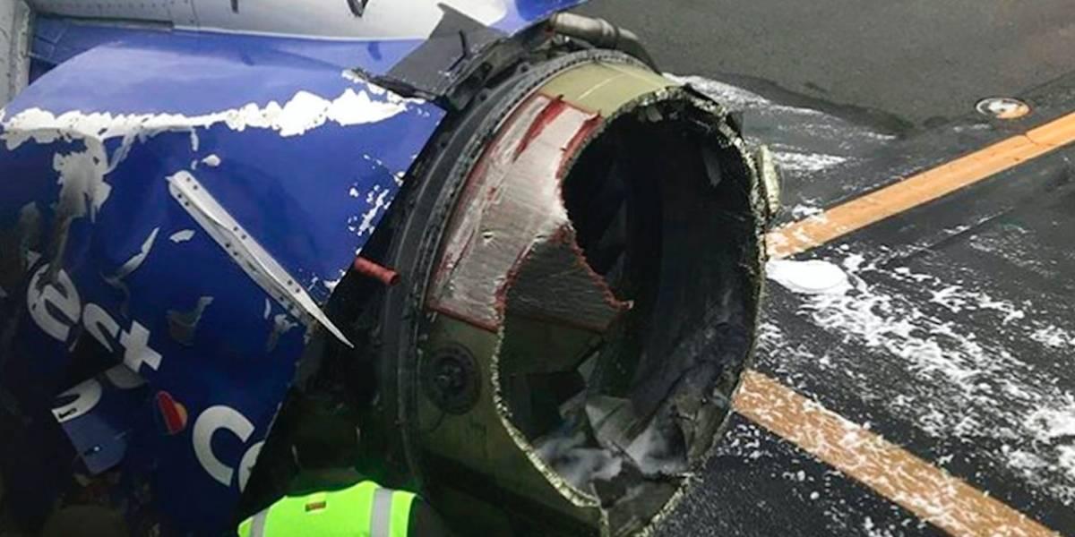 Muere una persona tras explosión en un motor de avión en Filadelfia
