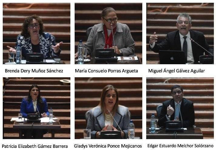 seis aspirantes a fiscal general que integran nómina final