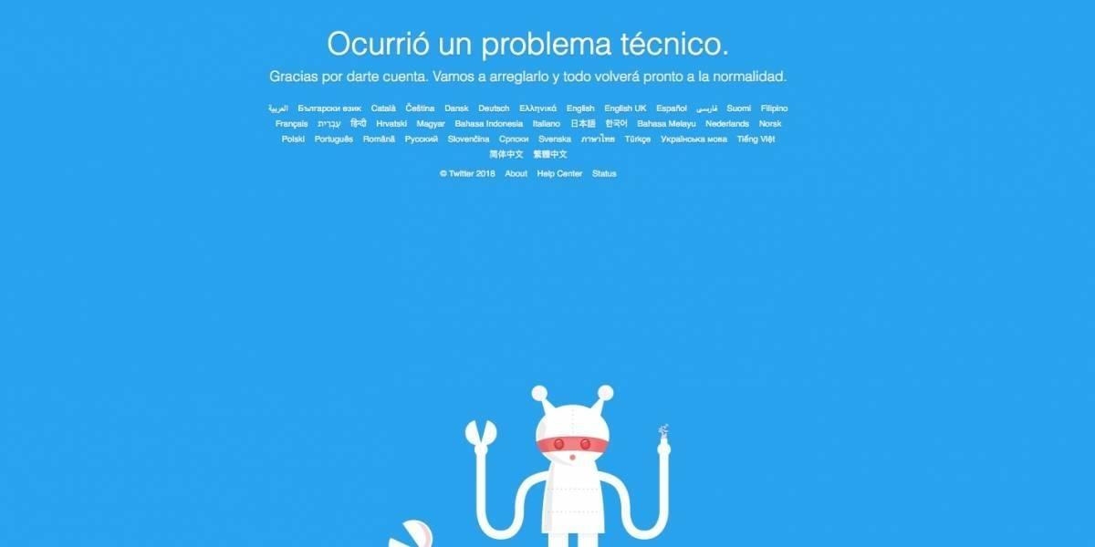 Twitter presentó fallas a nivel mundial