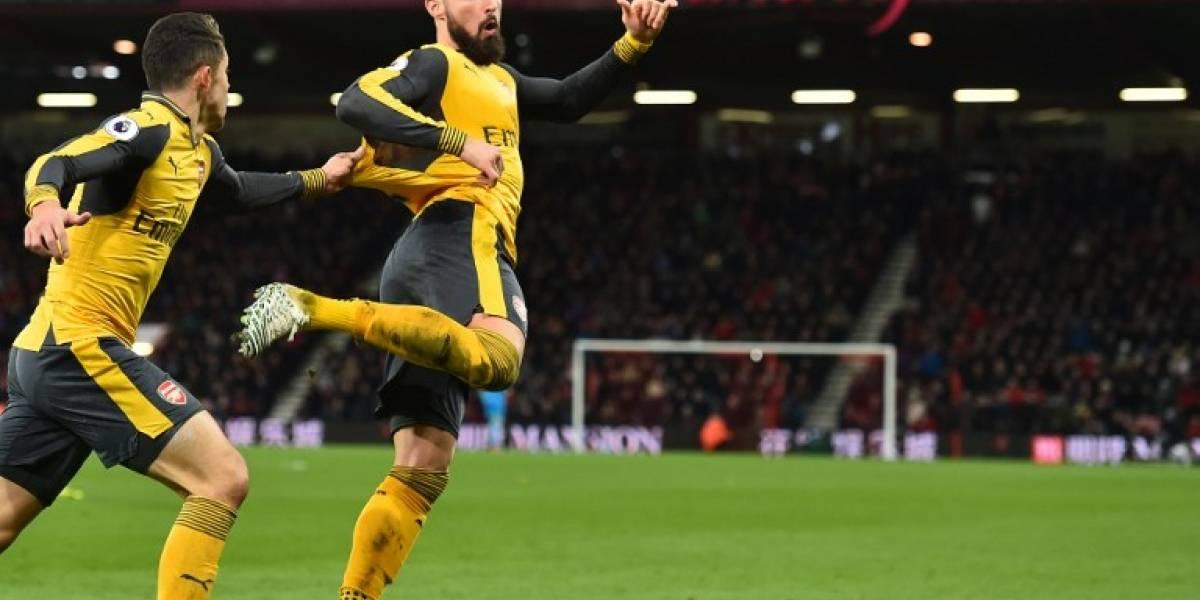 Giroud cortó racha de Alexis y se quedó con el premio al mejor jugador del mes en Arsenal