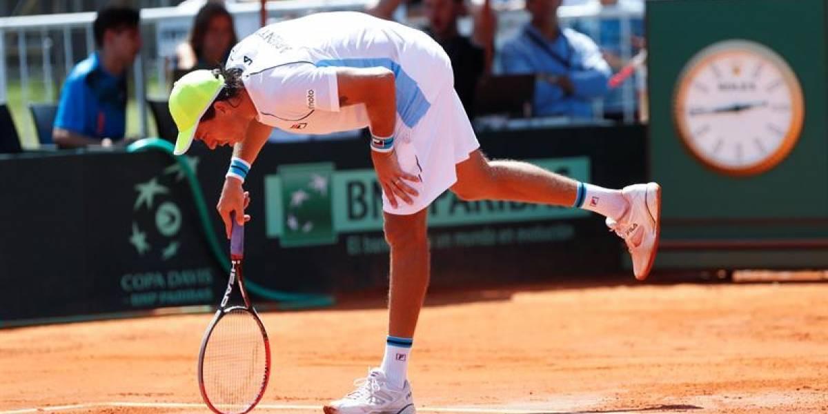 El campeón Argentina quedó al borde de la eliminación en la Copa Davis