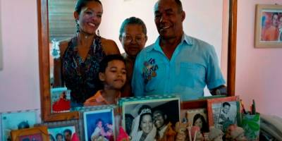Amable López y su familia