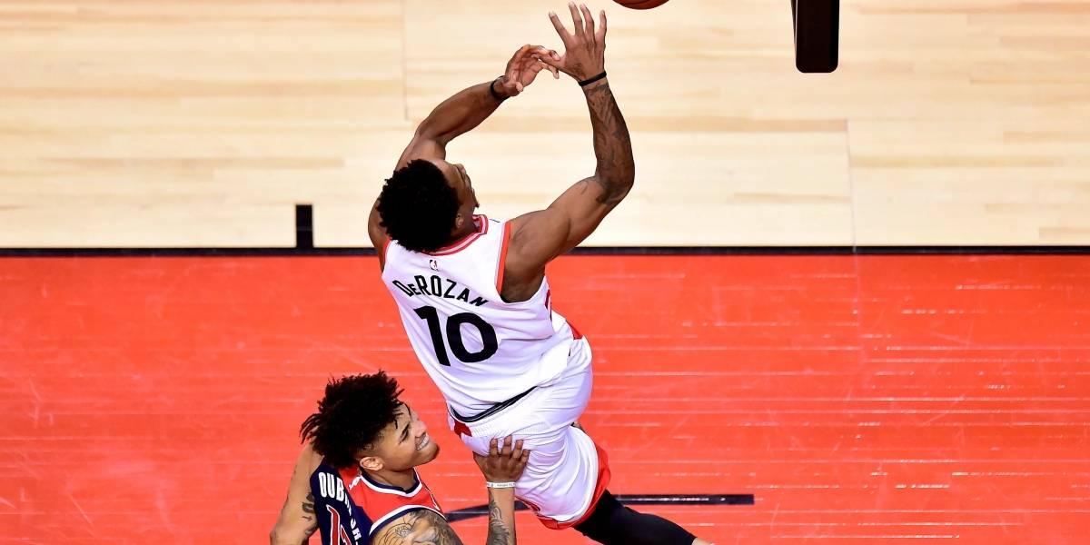 NBA: Raptors amplía su ventaja frente a Wizards de la mano de un intratable DeRozan