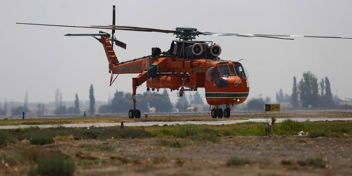 Falla eléctrica dejó en tierra al superhelicóptero Sikorsky S-64
