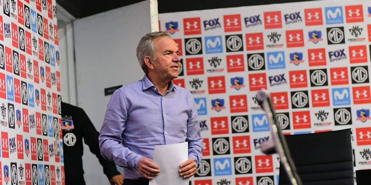 """Ruiz-Tagle insiste en la continuidad de Guede en Colo Colo: """"No ha renunciado, pero mostró interés de irse"""""""