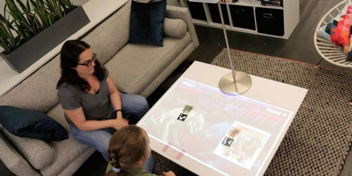 Esta lámpara lleva la realidad aumentada a tu mesa de centro