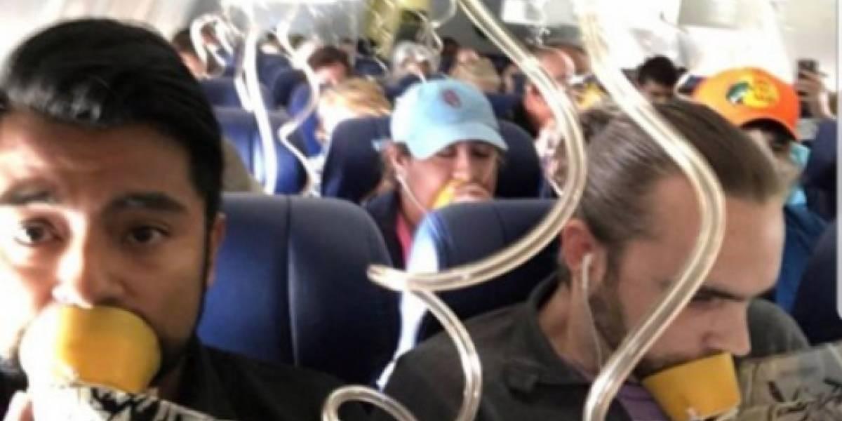 ¿Culpa del miedo?: el detalle en la foto de la emergencia del avión de Southwest que confirma que nadie presta atención a las instrucciones de seguridad