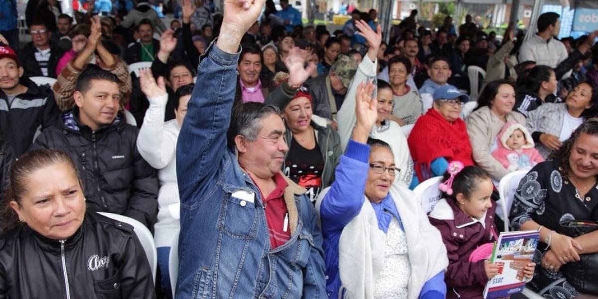 Legalizan 315 viviendas al sur de Bogotá